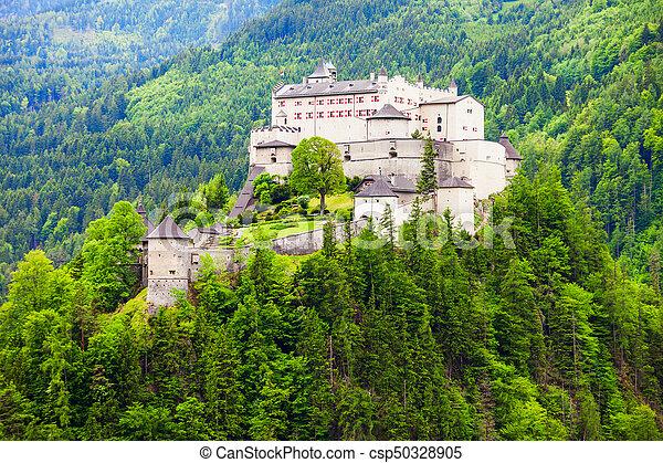 Hohenwerfen Castle in Austria - csp50328905