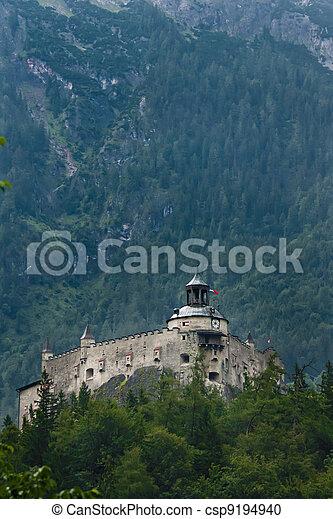 Hohenwerfen castle in Austria - csp9194940