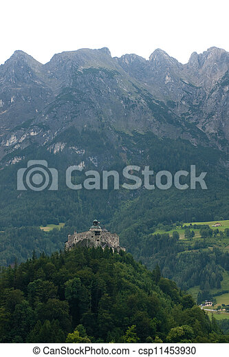 Hohenwerfen castle in Austria - csp11453930