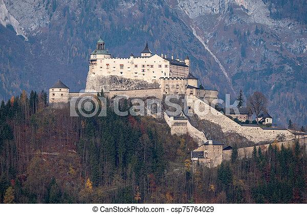 Hohenwerfen Castle in Werfen, Salzburg, Austria - csp75764029