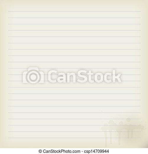 Una libreta en blanco - csp14709944