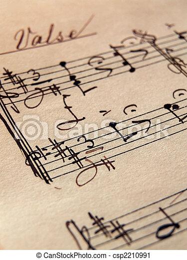 Hoja de música. Primer plano, papel, viejo, hojas, música fotografía ...