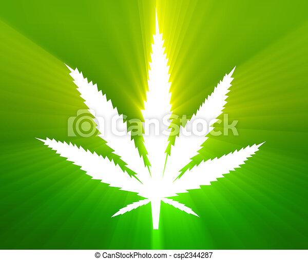 hoja, marijuana, ilustración - csp2344287