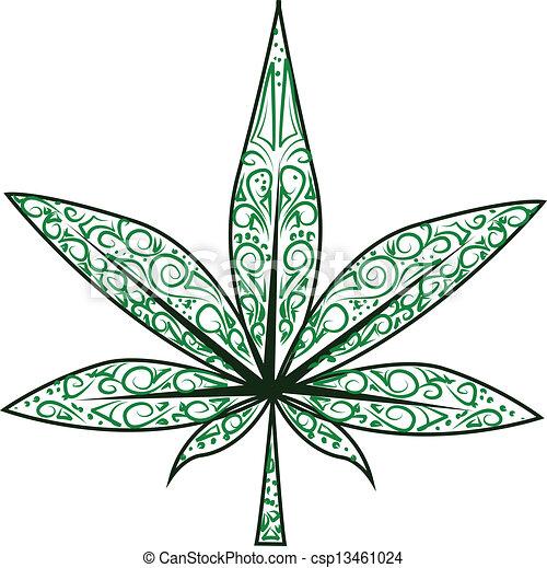 hoja, marijuana - csp13461024