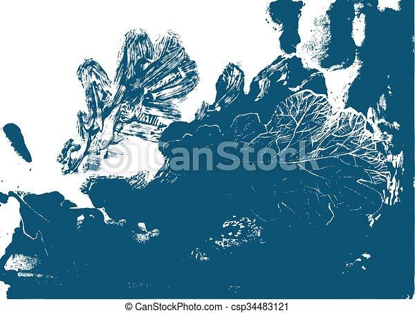 Hoja de roble. Defoliación de otoño en la naturaleza - csp34483121