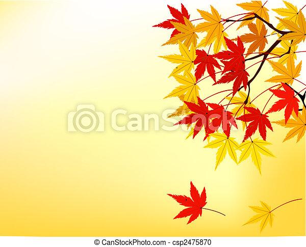 Hoja de otoño - csp2475870