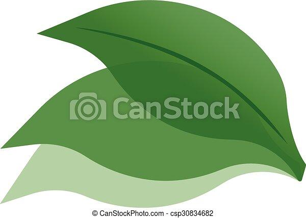 icono de ilustración de la hoja verde - csp30834682