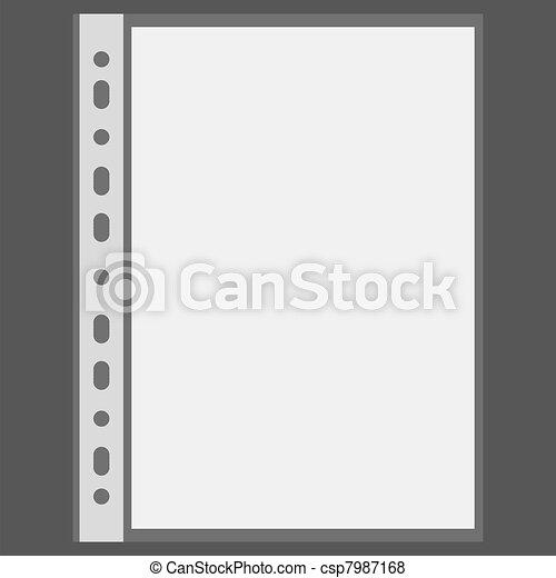 Archivo vector y hoja en blanco con lugar para su texto - csp7987168