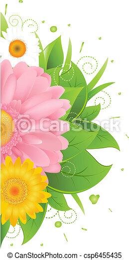 hojas, flor pasto - csp6455435