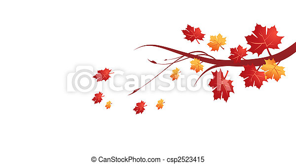 El otoño deja la ilustración del vector - csp2523415