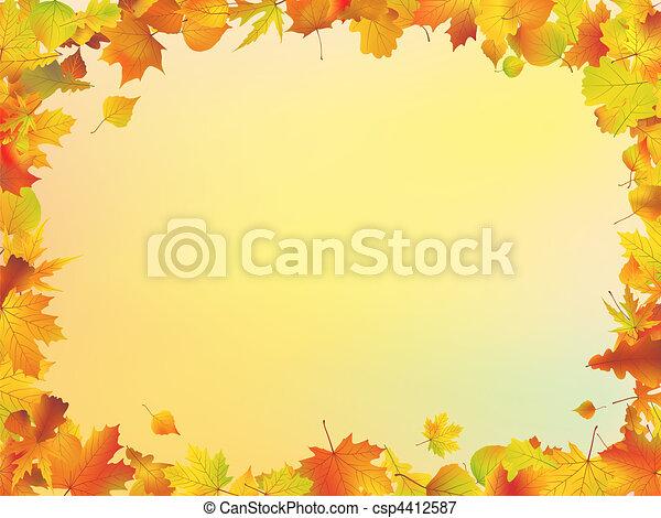 Hojas de otoño - csp4412587