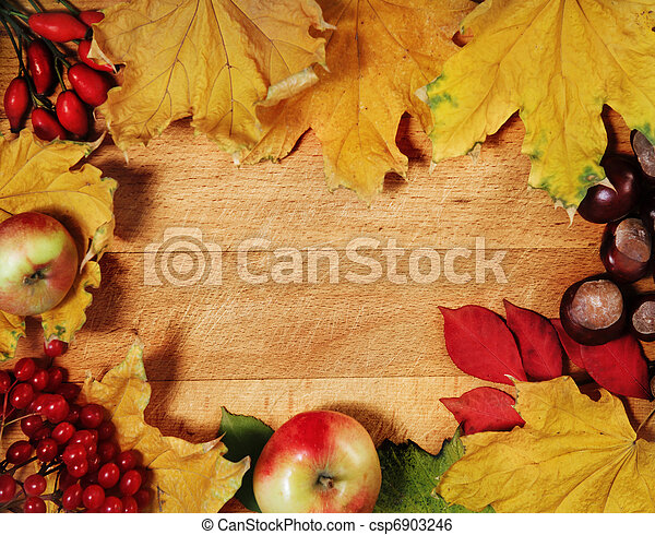 Todavía la vida con hojas de otoño - csp6903246