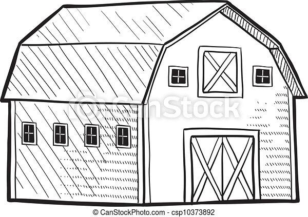 Un dibujo de un granero holandés - csp10373892
