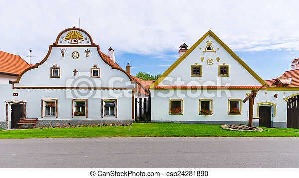 Holasovice - old Bohemian village on UNESCO heritage list - csp24281890
