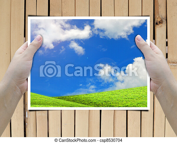 Hold Frame Artwork Of Two Hands Holding Picture Frame