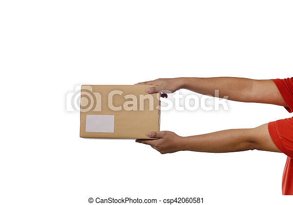 Holding Brown Package Box - csp42060581