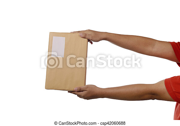 Holding Brown Package Box - csp42060688