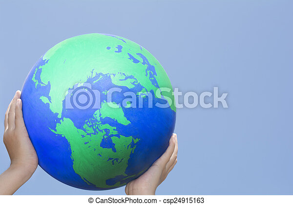 holding earth - csp24915163