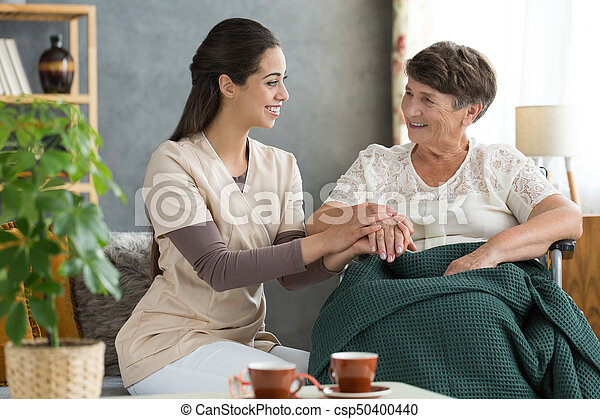 Holding hand in support - csp50400440