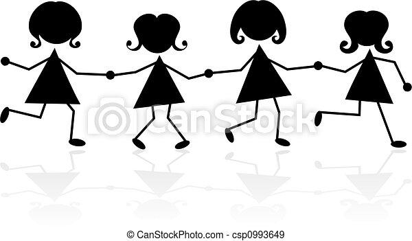 holding hands - csp0993649
