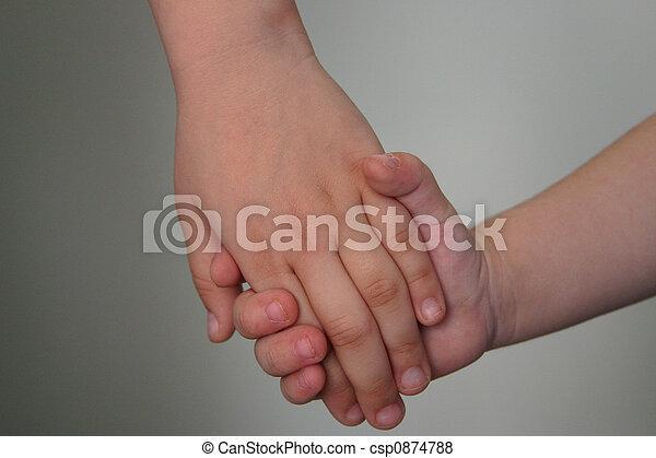 Holding hands - csp0874788