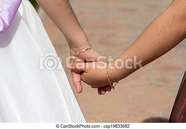 Holding hands - csp19833682