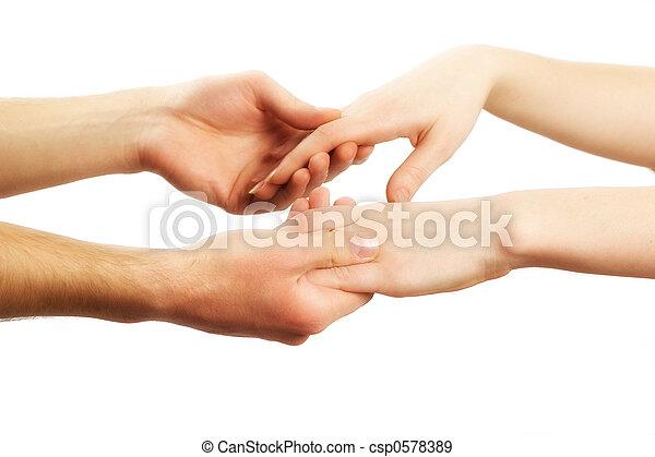 Holding hands - csp0578389