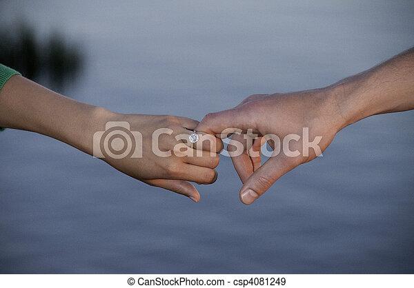 Holding hands - csp4081249