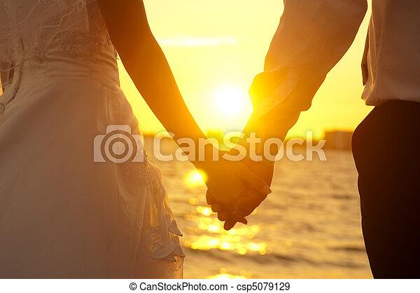Holding Hands - csp5079129