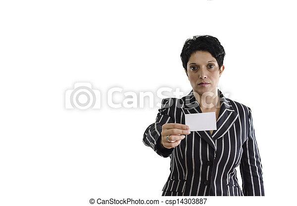 Holding My Visit Card - csp14303887