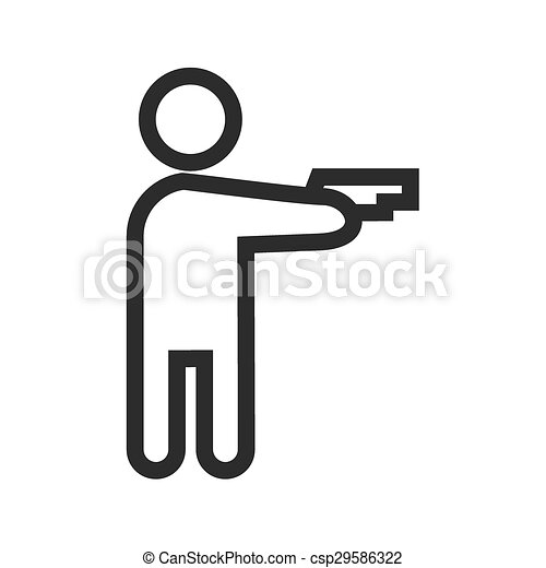 Holding Pistol Pistol Gun Hand Icon Vector Image Can Also Be