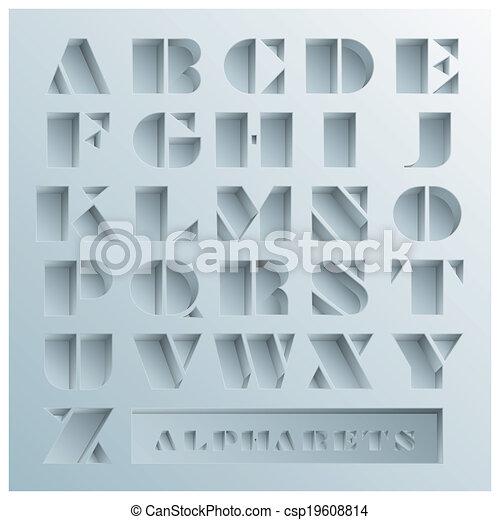 Hole Alphabets Font Style - csp19608814