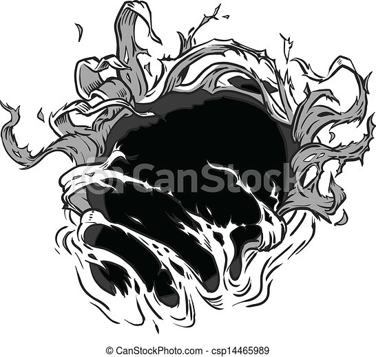 Hole Ripping Vector Background  - csp14465989