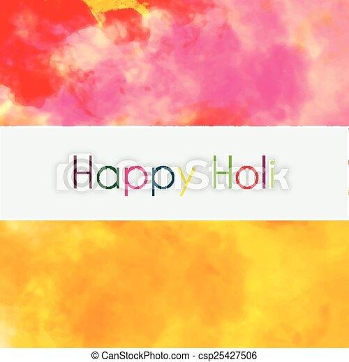 holi, coloré, fond, heureux - csp25427506
