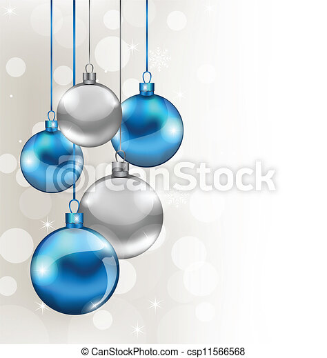 Holiday background with Christmas balls - csp11566568