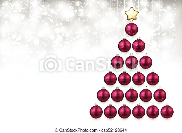 Holiday Background With Pink Christmas Tree