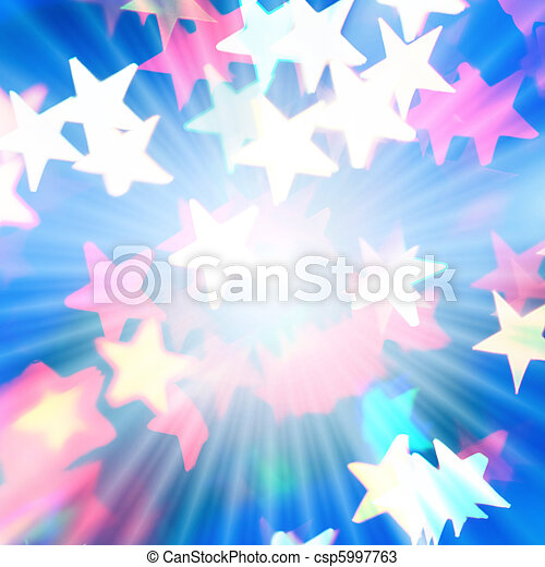 Holiday background with rays of light and star-shaped highlights - csp5997763