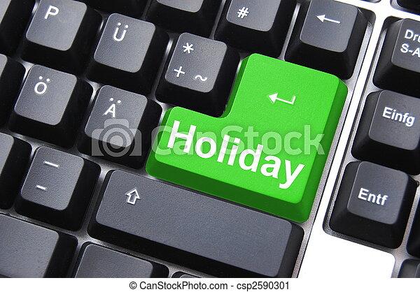 holiday button - csp2590301