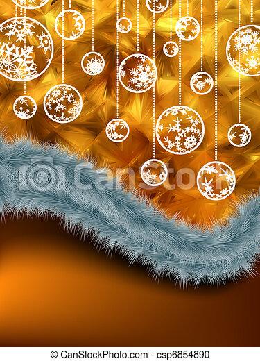 Holiday card. Christmas, New Year. EPS 8 - csp6854890