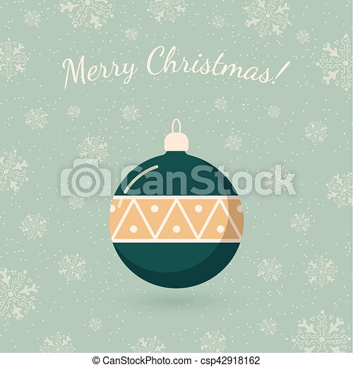 Holiday Card Template Retro Style For Christmas And New  Clip Art