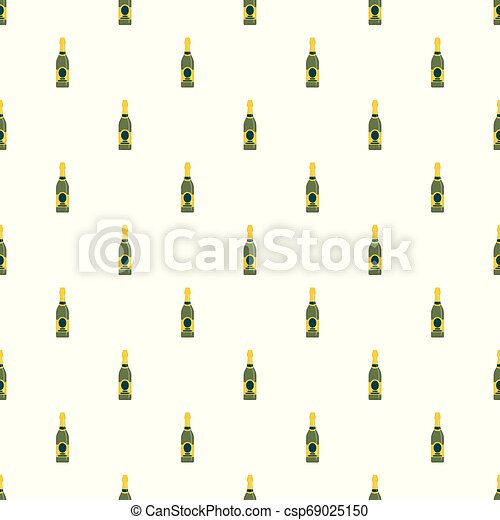 Holiday champagne pattern seamless vector - csp69025150