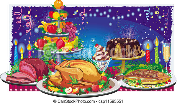 Holiday dinner - csp11595551