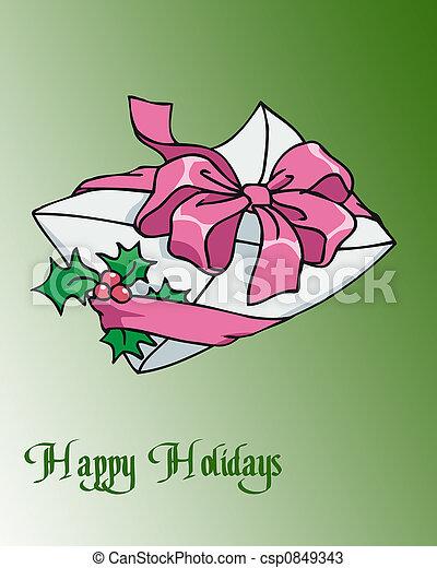 Holiday Envelope - csp0849343