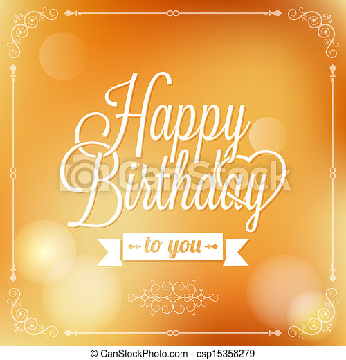 holiday - frame happy birthday - csp15358279