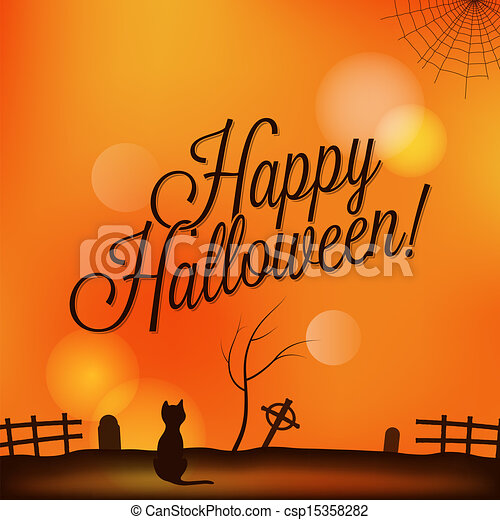 holiday - frame happy halloween - csp15358282