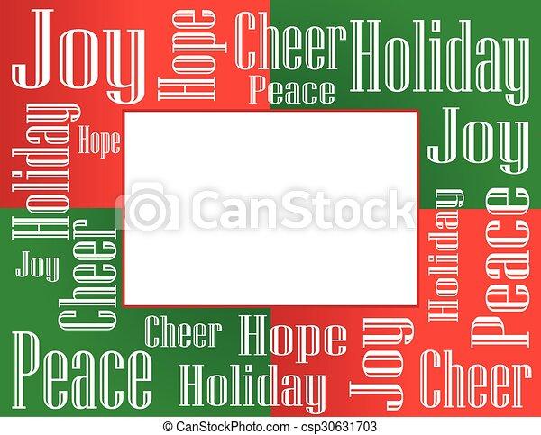 Holiday Frame - csp30631703