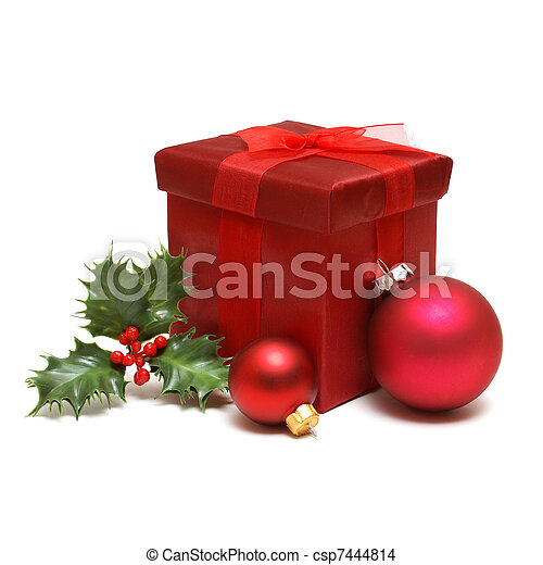 Holiday Gift Box - csp7444814