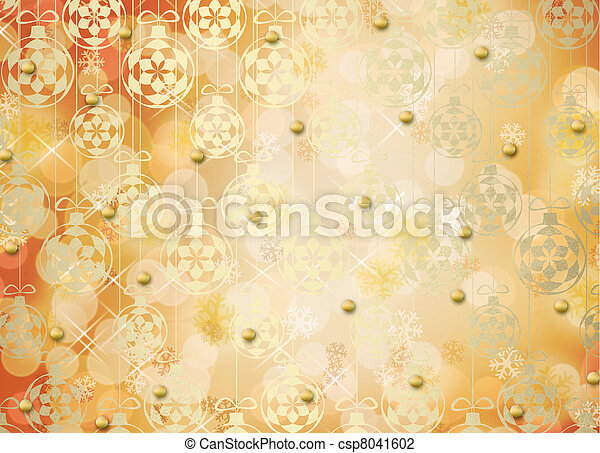 Holiday gift boxes decorated with bows and ribbons on the bright abstract background - csp8041602