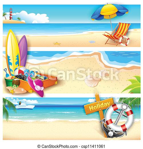 Holiday on Beach - csp11411061