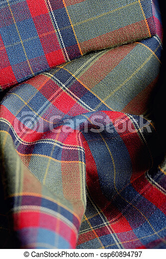 Holiday Plaid Fabric Background - csp60894797